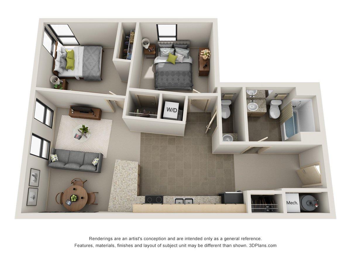 2 Bedrooms 1 Bathroom Apartment for rent at L14 Flats in Omaha, NE