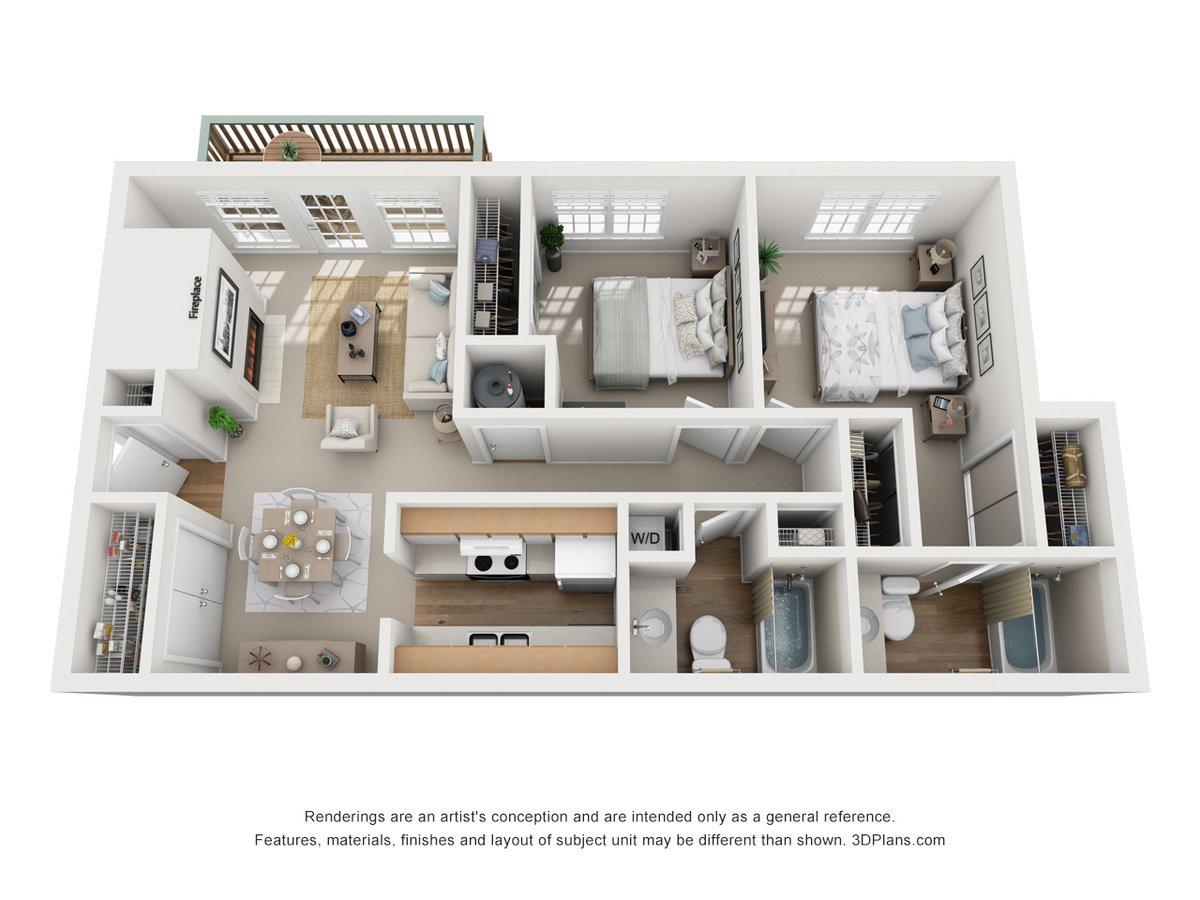2 Bedrooms 2 Bathrooms Apartment for rent at Bennington Ridge in Kansas City, MO