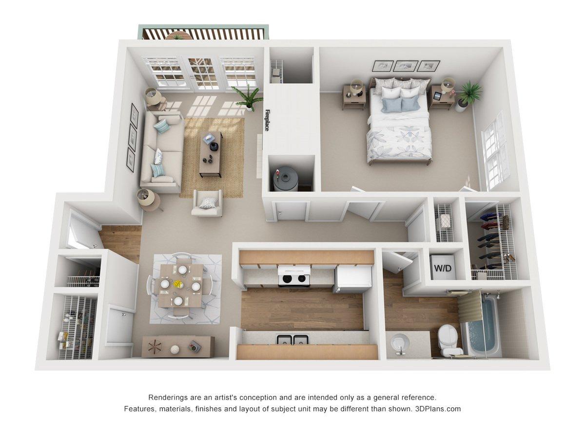 1 Bedroom 1 Bathroom Apartment for rent at Bennington Ridge in Kansas City, MO