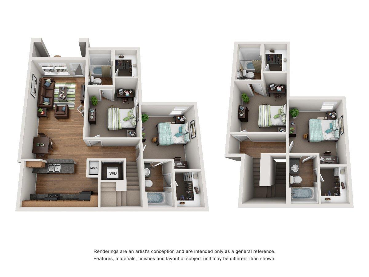 4 Bedrooms 4+ Bathrooms Apartment for rent at 18 Seventy Nine in Huntsville, TX