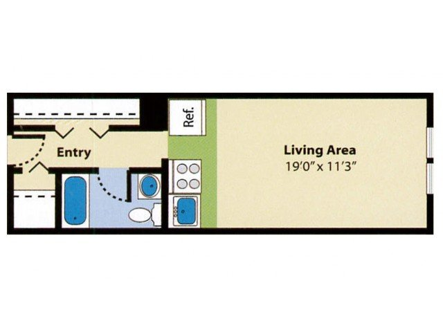 Studio 1 Bathroom Apartment for rent at Pheasant Run Apartments in Nashua, NH