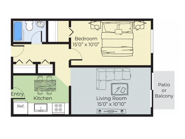 1 Bedroom 1 Bathroom Apartment for rent at Pheasant Run Apartments in Nashua, NH
