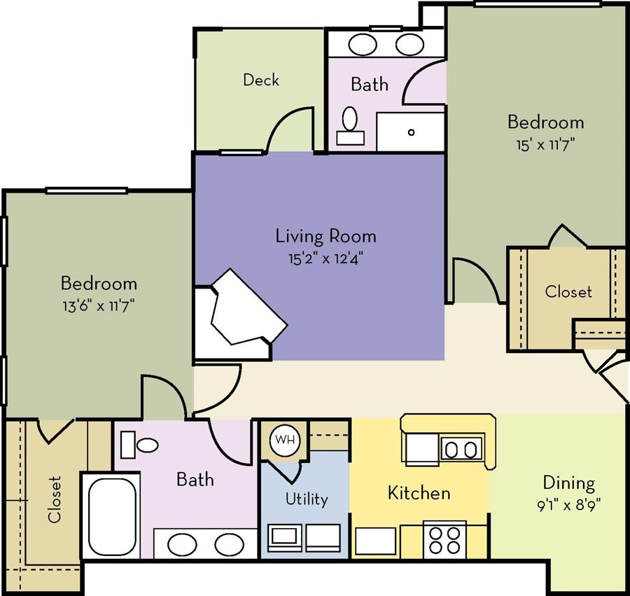 2 Bedrooms 2 Bathrooms Apartment for rent at Providence Court Apartments in Charlotte, NC