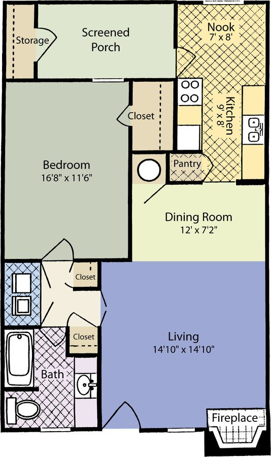 1 Bedroom 1 Bathroom Apartment for rent at ARIUM Trailwood in Raleigh, NC