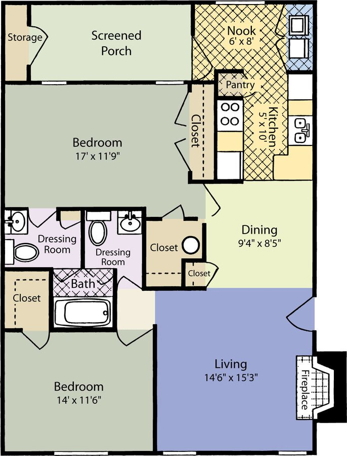 2 Bedrooms 1 Bathroom Apartment for rent at ARIUM Trailwood in Raleigh, NC