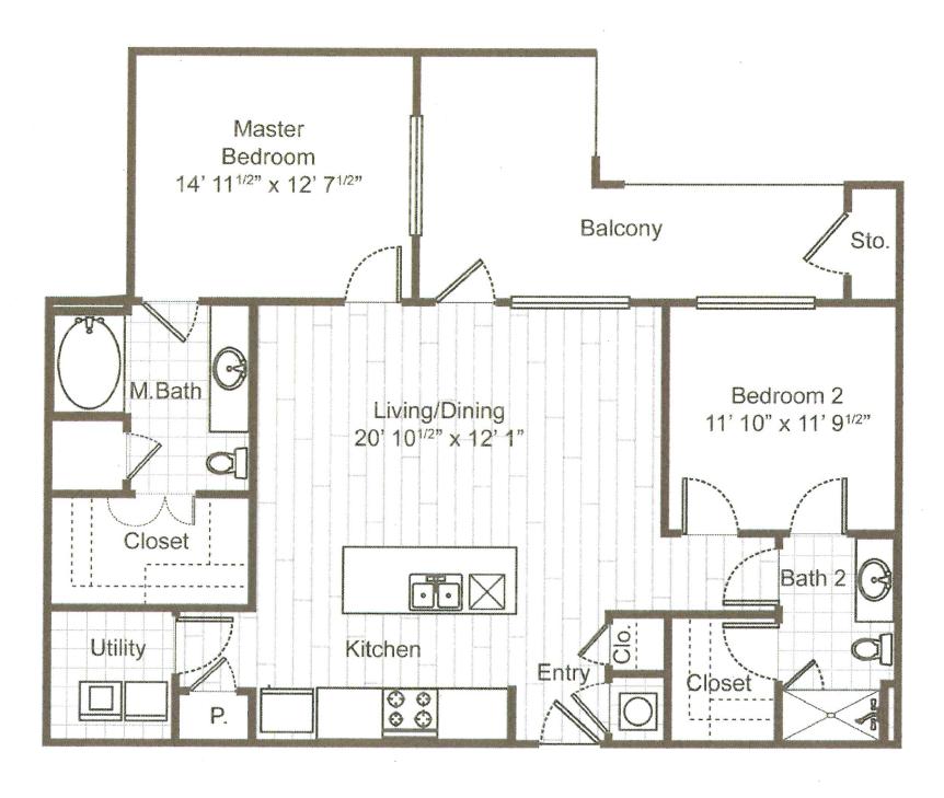 2 Bedrooms 2 Bathrooms Apartment for rent at ARIUM Uptown West in Houston, TX