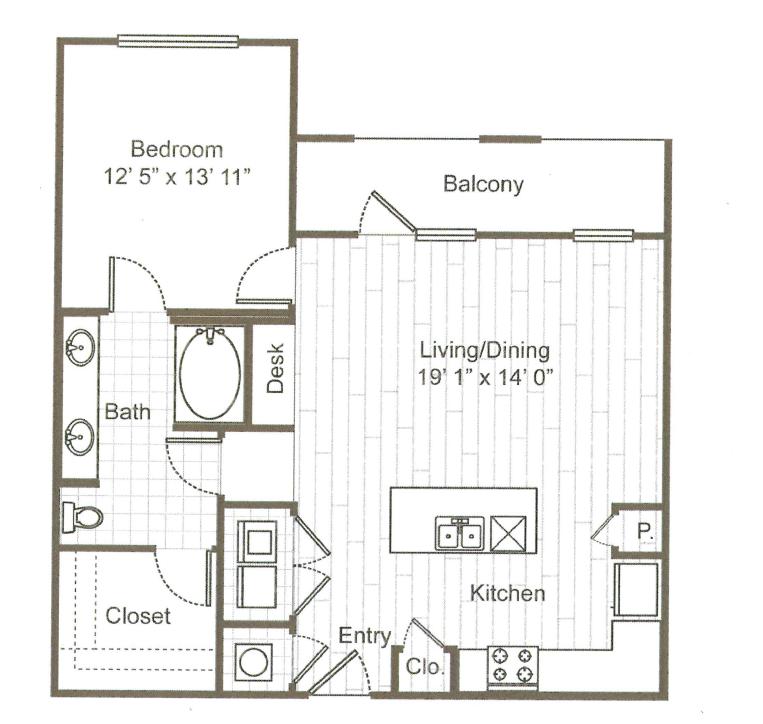 1 Bedroom 1 Bathroom Apartment for rent at ARIUM Uptown West in Houston, TX