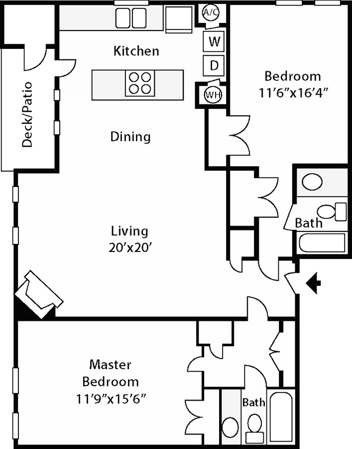 2 Bedrooms 2 Bathrooms Apartment for rent at Stonehenge in Raleigh, NC