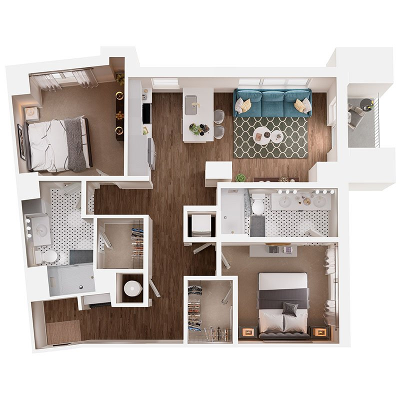 2 Bedrooms 2 Bathrooms Apartment for rent at Broadstone Queen City in Charlotte, NC