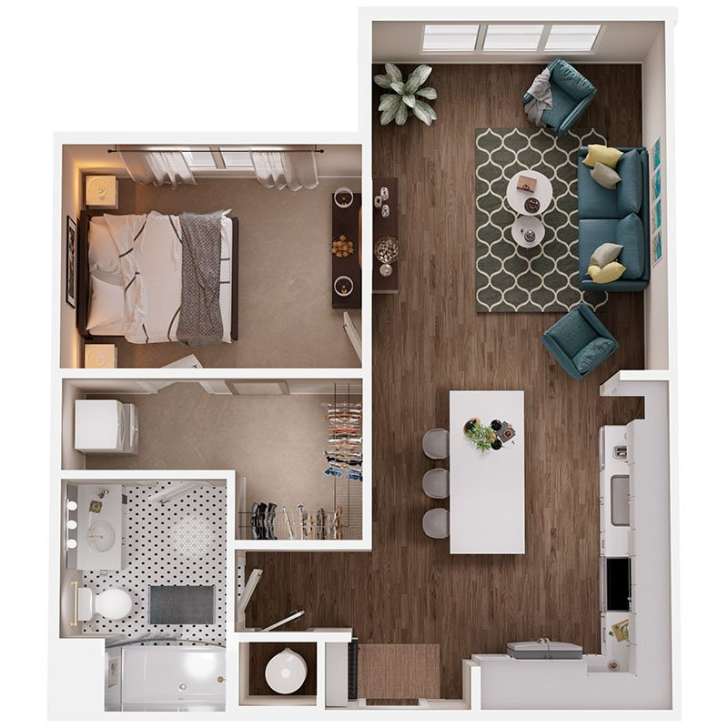 1 Bedroom 1 Bathroom Apartment for rent at Broadstone Queen City in Charlotte, NC