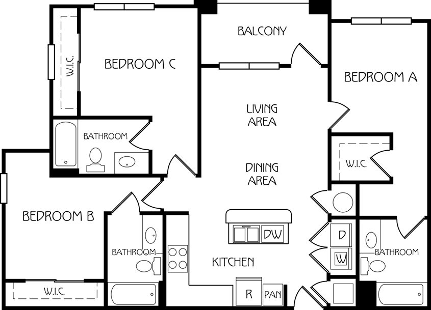 3 Bedrooms 3 Bathrooms Apartment for rent at The Retreat At Corvallis in Corvallis, OR