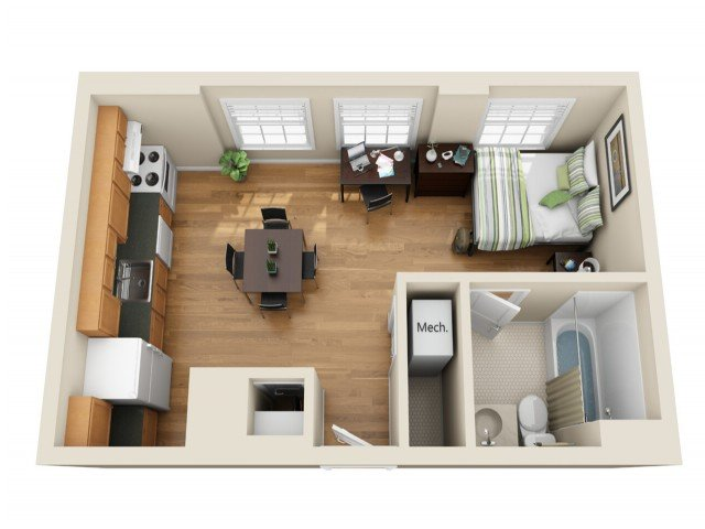 Studio 1 Bathroom Apartment for rent at Coronado Place and Towers in St Louis, MO