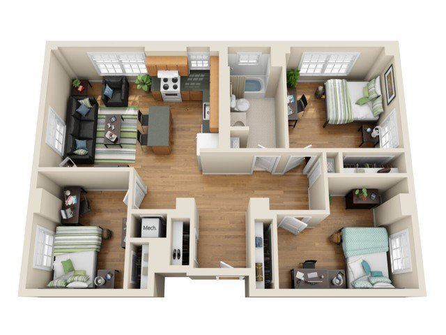 3 Bedrooms 1 Bathroom Apartment for rent at Coronado Place and Towers in St Louis, MO
