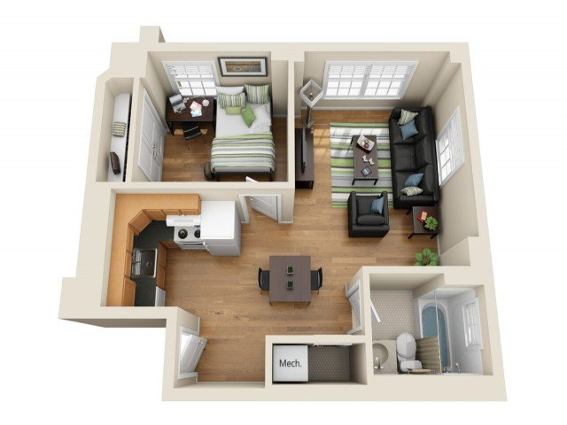1 Bedroom 1 Bathroom Apartment for rent at Coronado Place and Towers in St Louis, MO