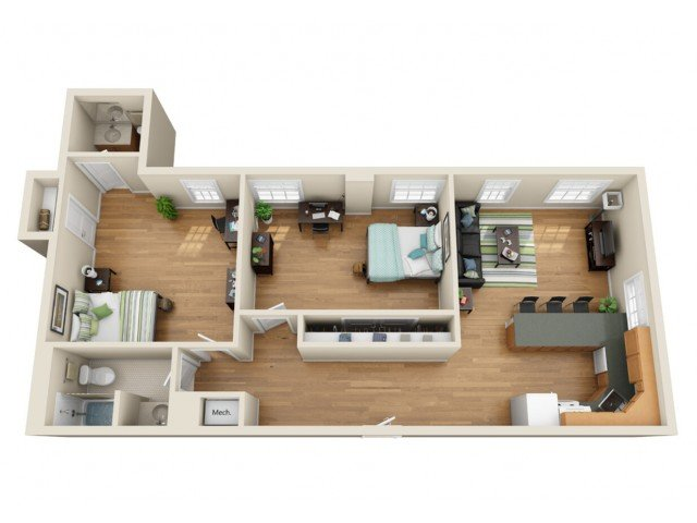 2 Bedrooms 2 Bathrooms Apartment for rent at Coronado Place and Towers in St Louis, MO