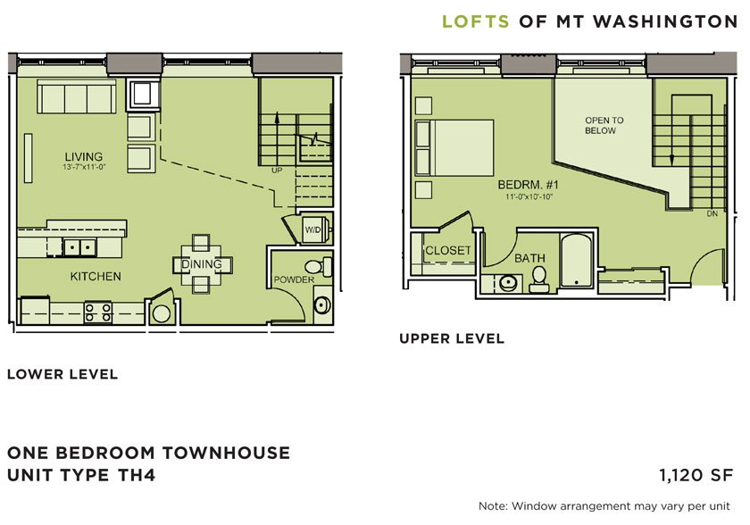 1 Bedroom 2 Bathrooms Apartment for rent at Lofts Of Mt. Washington in Pittsburgh, PA
