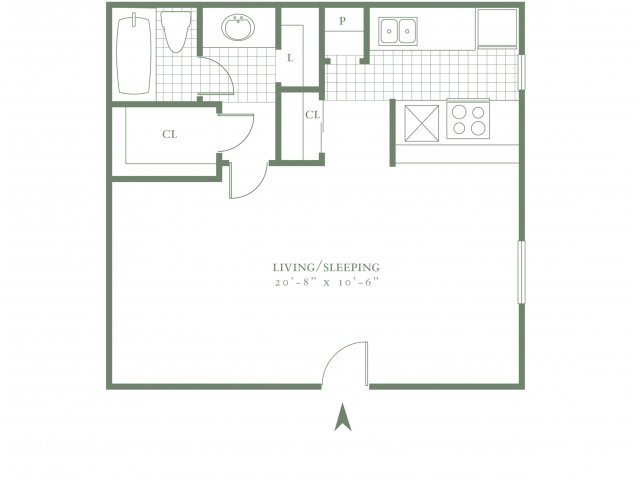 Studio 1 Bathroom Apartment for rent at The Village Gate in Dallas, TX