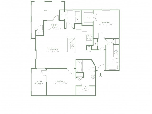 2 Bedrooms 2 Bathrooms Apartment for rent at The Village Upper East Side in Dallas, TX