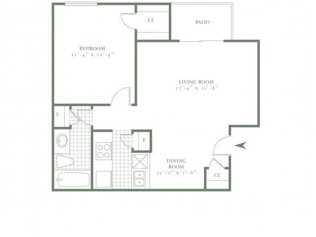 1 Bedroom 1 Bathroom Apartment for rent at The Village Bend in Dallas, TX
