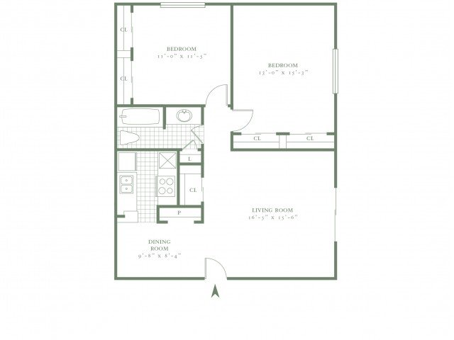 2 Bedrooms 1 Bathroom Apartment for rent at The Village Gate in Dallas, TX