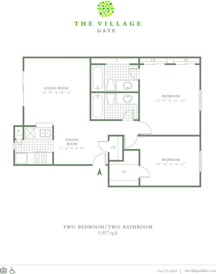 2 Bedrooms 2 Bathrooms Apartment for rent at The Village Gate in Dallas, TX