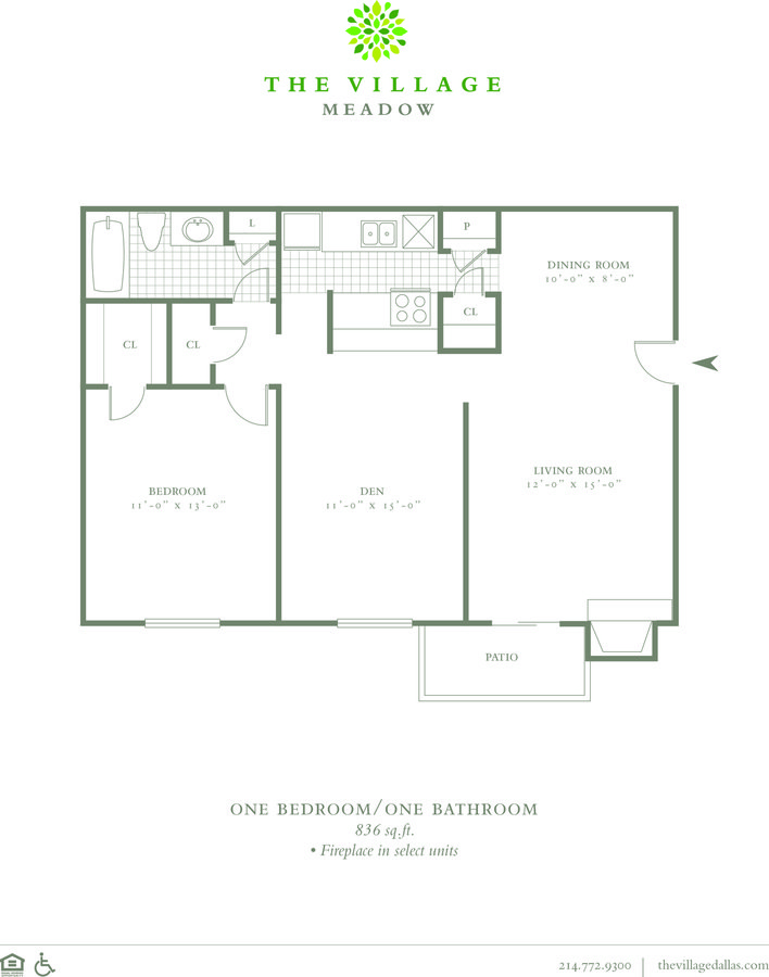 1 Bedroom 1 Bathroom Apartment for rent at The Village Meadow in Dallas, TX