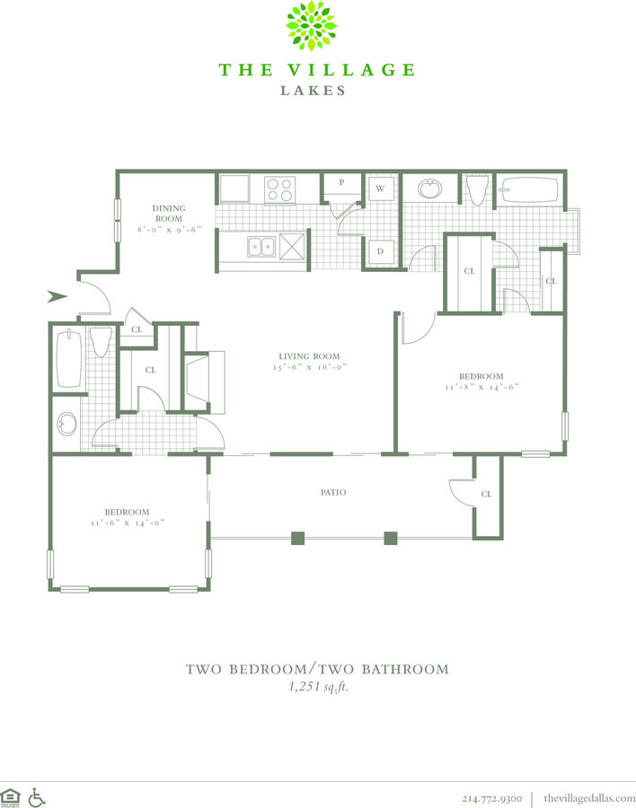 2 Bedrooms 2 Bathrooms Apartment for rent at The Village Lakes in Dallas, TX