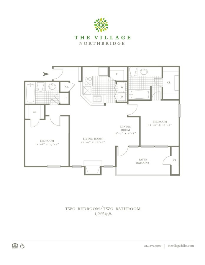 2 Bedrooms 2 Bathrooms Apartment for rent at The Village Northbridge in Dallas, TX