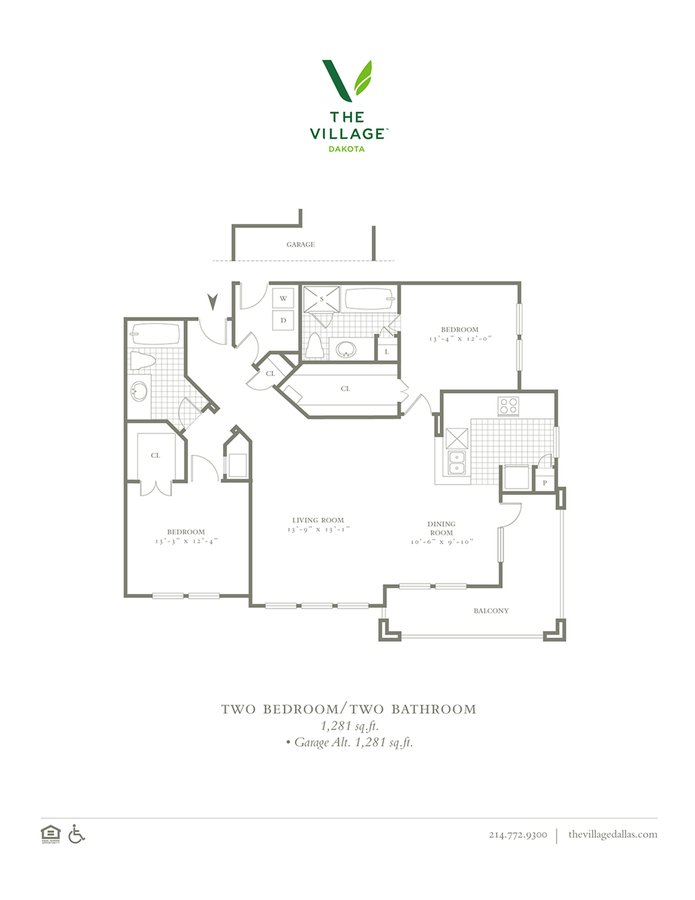 2 Bedrooms 2 Bathrooms Apartment for rent at The Village Dakota in Dallas, TX