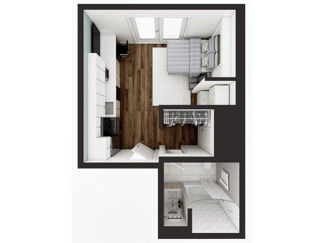 Studio 1 Bathroom Apartment for rent at 1008 S. 4th in Champaign, IL