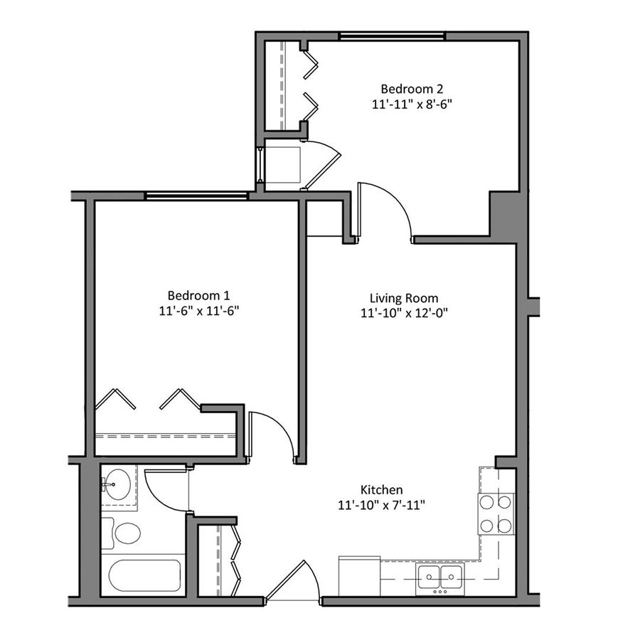 2 Bedrooms 1 Bathroom Apartment for rent at The Denn in Minneapolis, MN