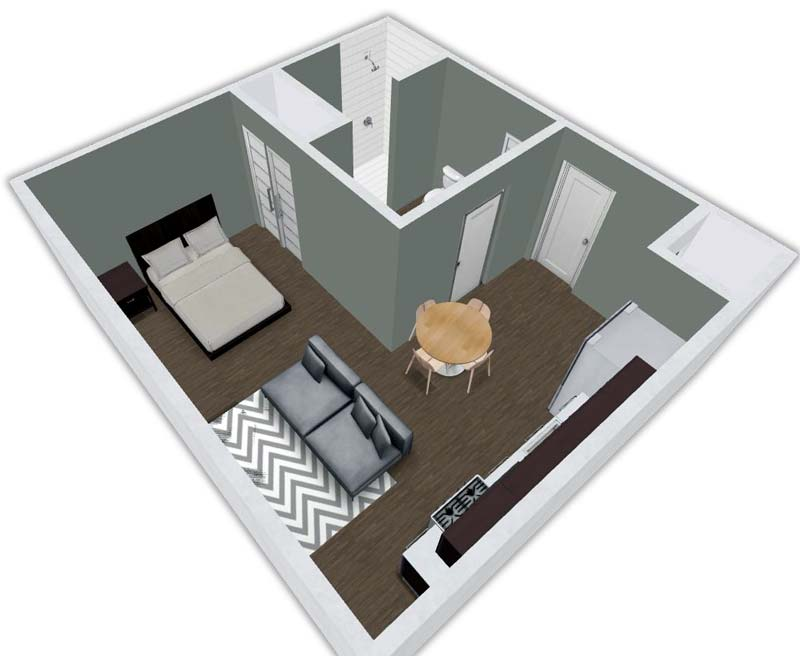Studio 1 Bathroom Apartment for rent at Urban Flats South in Cedar Falls, IA