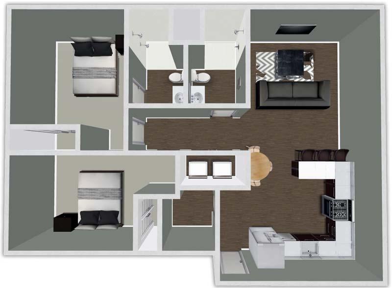 2 Bedrooms 2 Bathrooms Apartment for rent at Urban Flats South in Cedar Falls, IA
