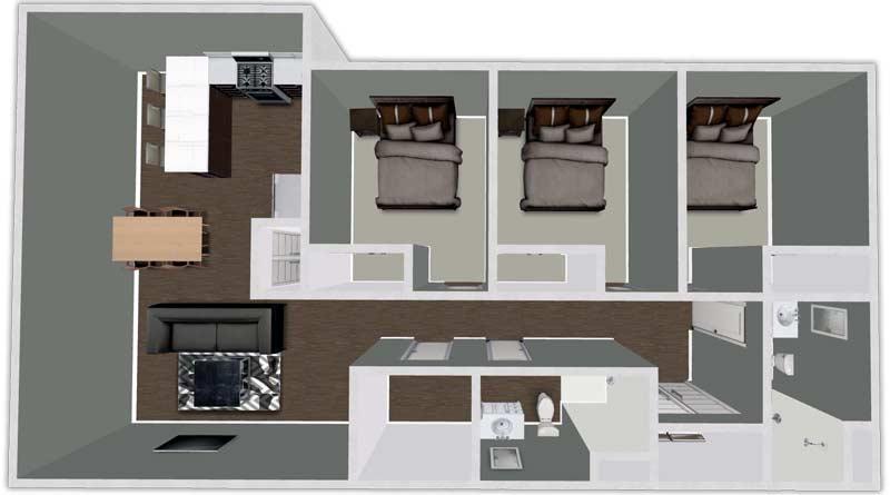 3 Bedrooms 2 Bathrooms Apartment for rent at Urban Flats South in Cedar Falls, IA