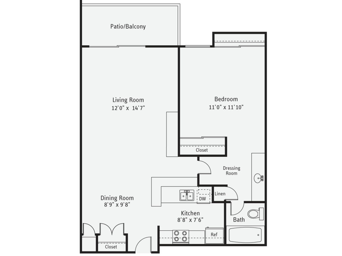 1 Bedroom 1 Bathroom Apartment for rent at AVA Pacific Beach in San Diego, CA