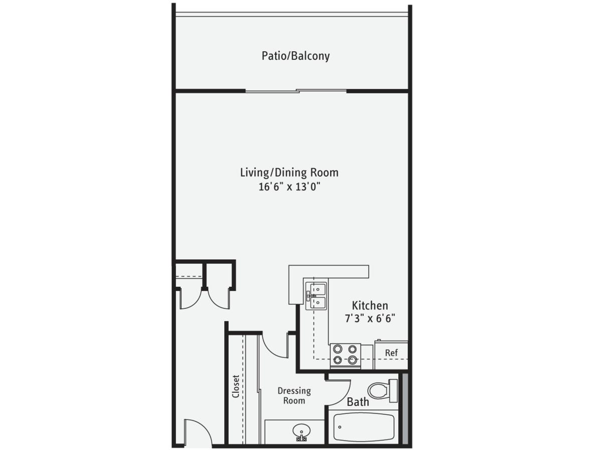Studio 1 Bathroom Apartment for rent at AVA Pacific Beach in San Diego, CA