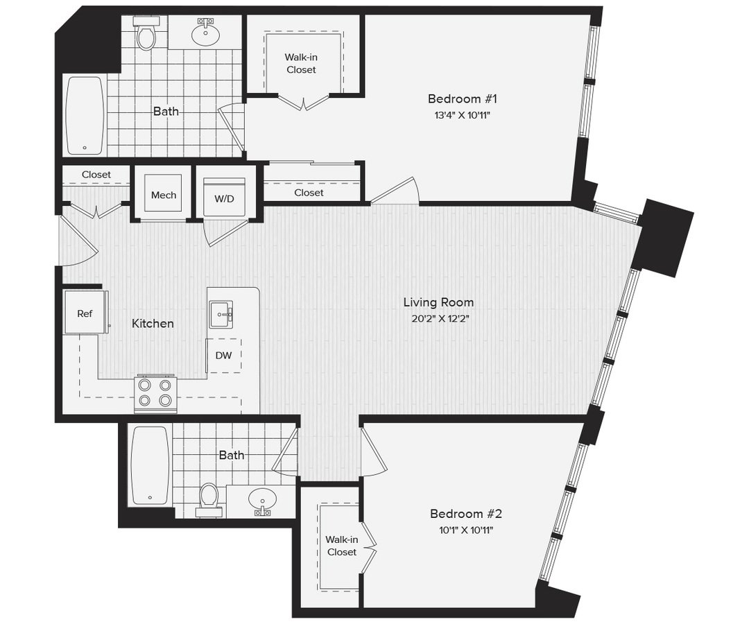 2 Bedrooms 2 Bathrooms Apartment for rent at Avalon Dunn Loring in Vienna, VA