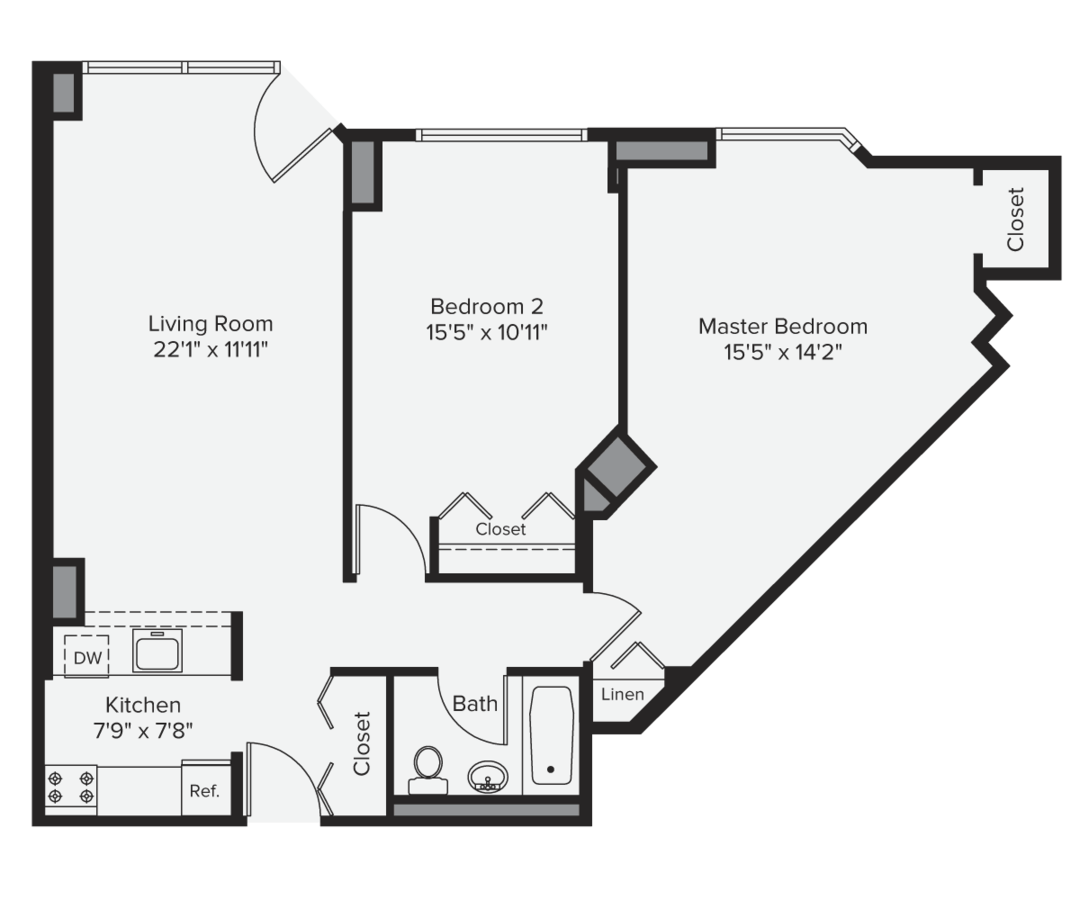 2 Bedrooms 1 Bathroom Apartment for rent at Avalon Midtown West in New York, NY