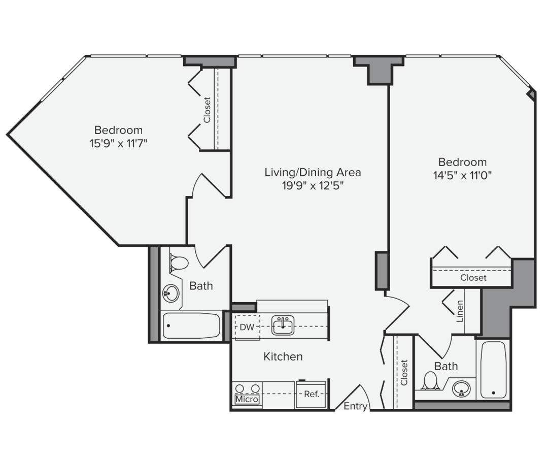 2 Bedrooms 2 Bathrooms Apartment for rent at Avalon Midtown West in New York, NY