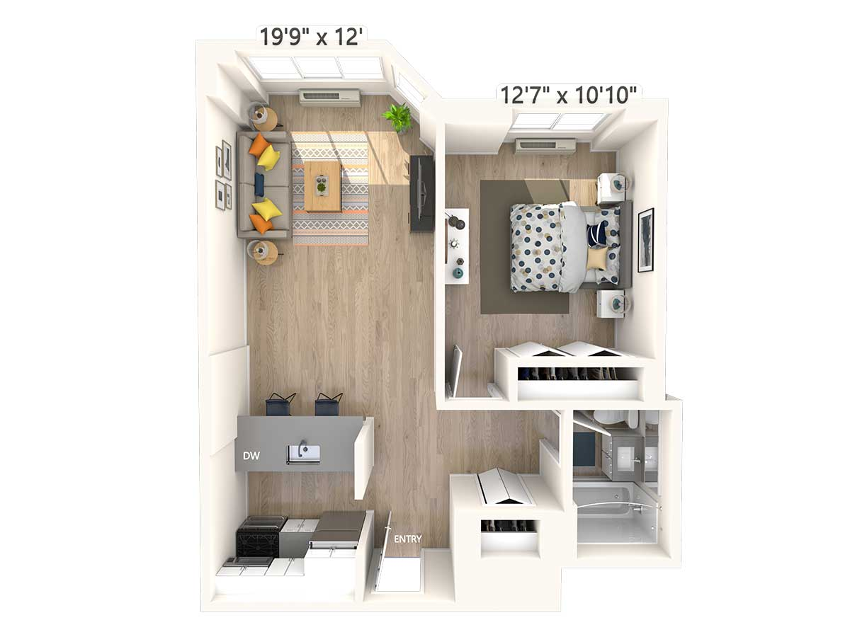 1 Bedroom 1 Bathroom Apartment for rent at Avalon Midtown West in New York, NY
