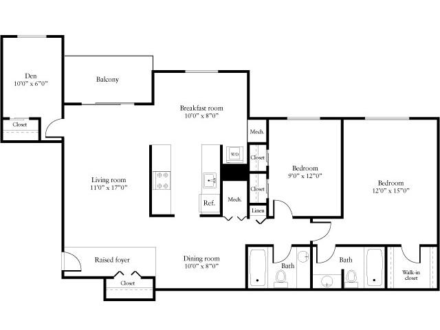 2 Bedrooms 2 Bathrooms Apartment for rent at eaves Tysons Corner in Vienna, VA