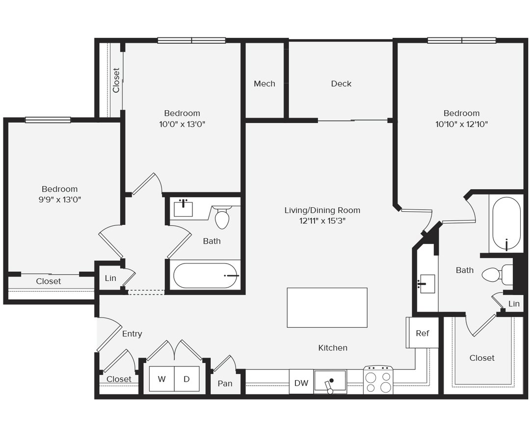 3 Bedrooms 2 Bathrooms Apartment for rent at Avalon Red Rocks in Littleton, CO
