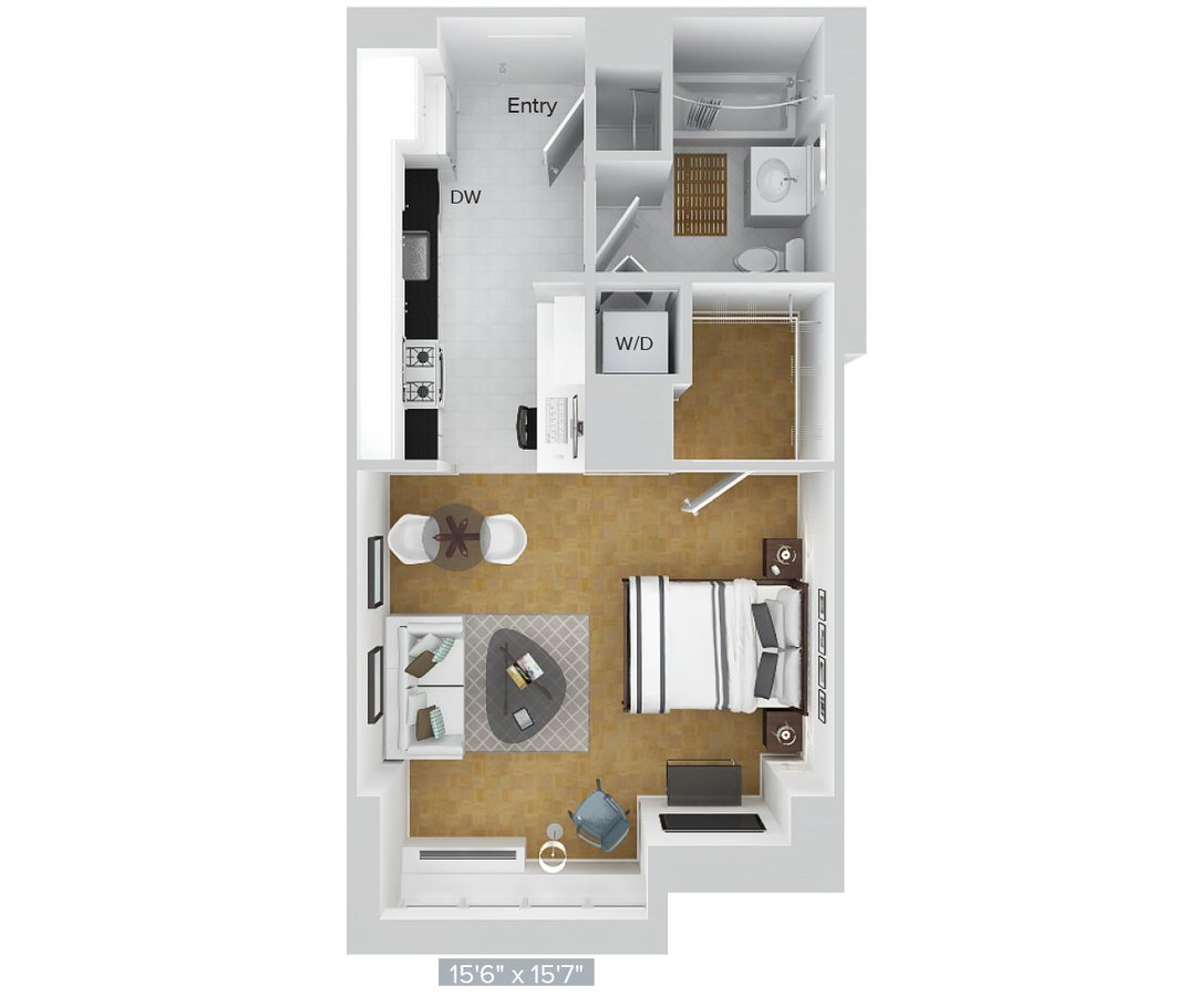 Studio 1 Bathroom Apartment for rent at Avalon Riverview in Long Island City, NY