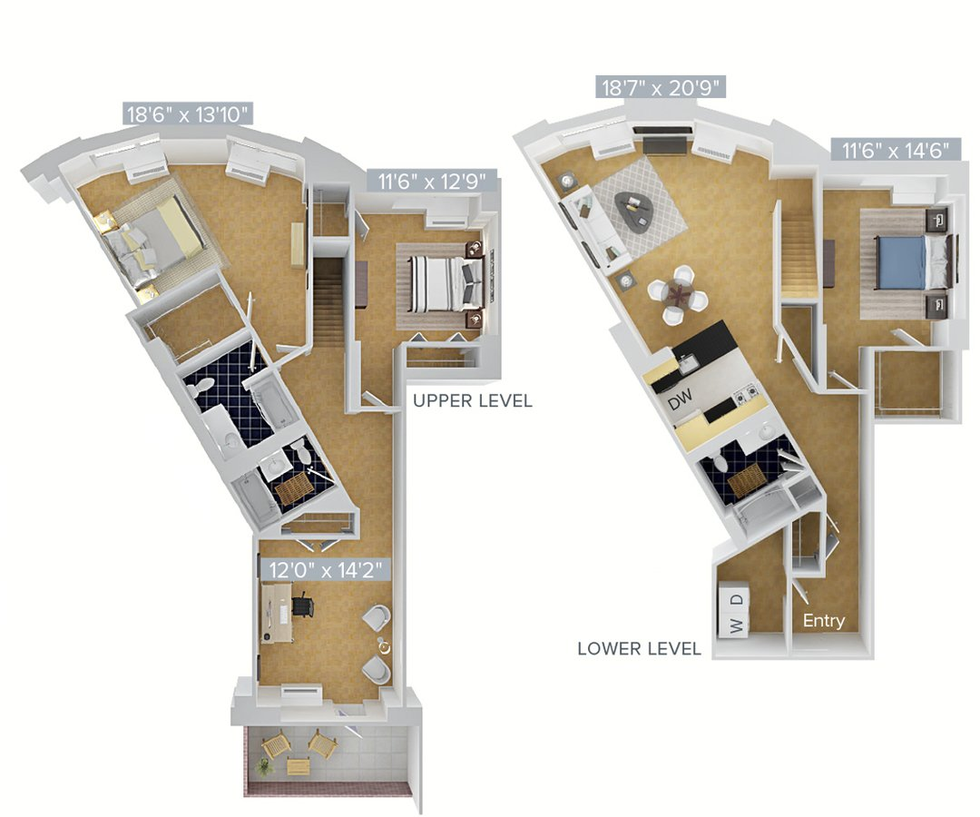Studio 3 Bathrooms Apartment for rent at Avalon Riverview in Long Island City, NY
