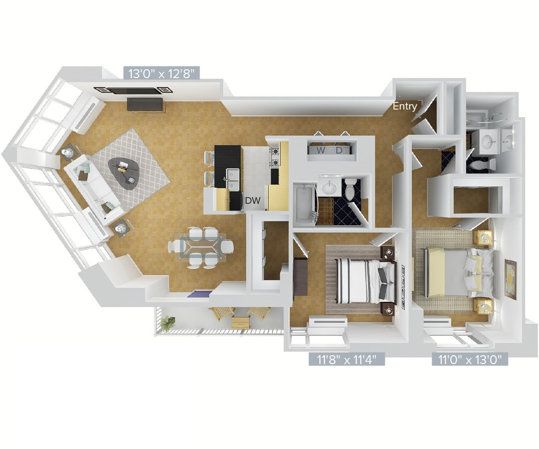 Studio 2 Bathrooms Apartment for rent at Avalon Riverview in Long Island City, NY