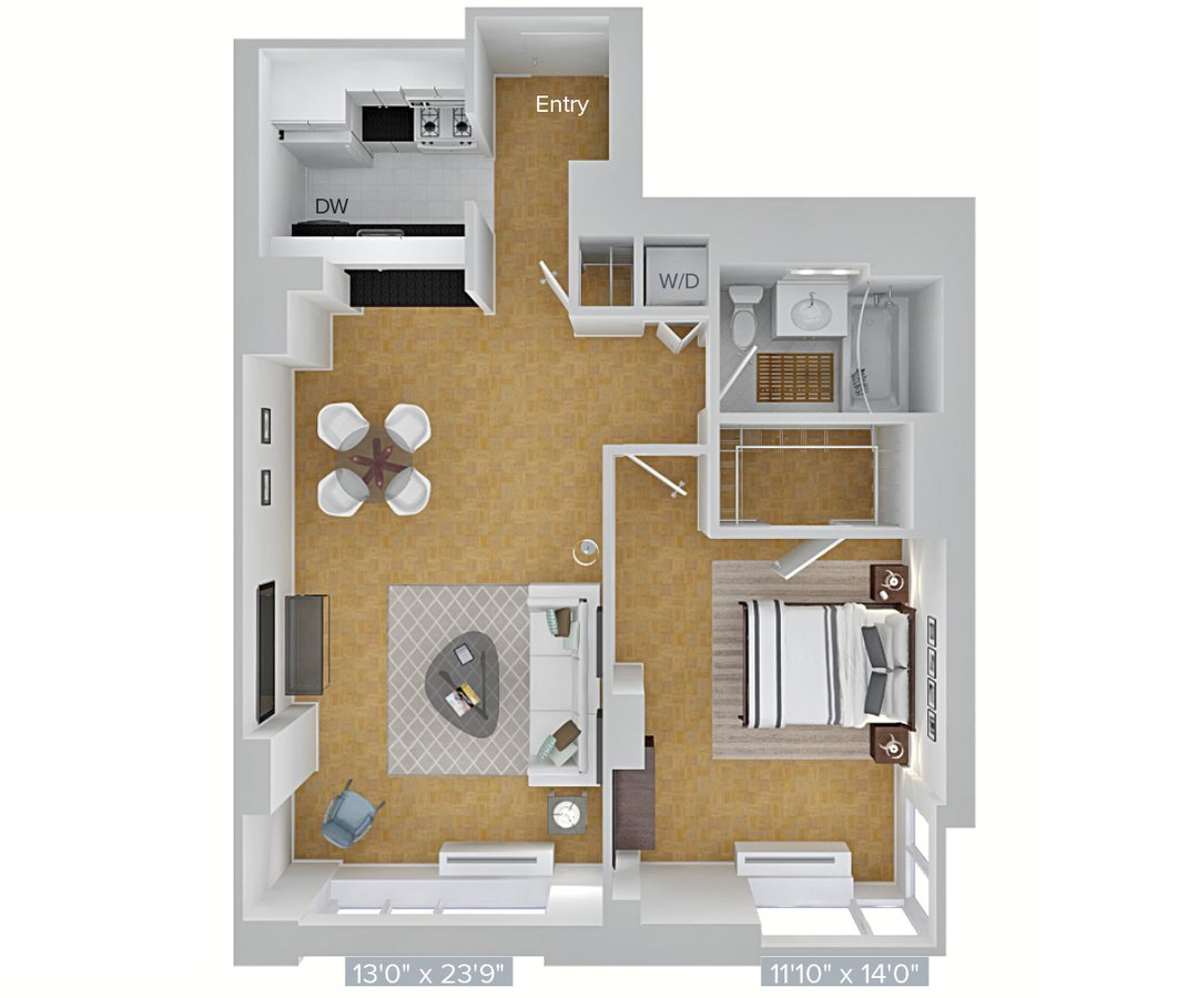 1 Bedroom 1 Bathroom Apartment for rent at Avalon Riverview in Long Island City, NY