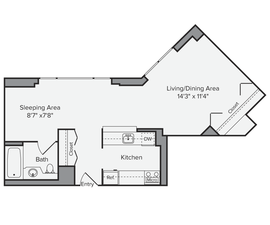 Studio 1 Bathroom Apartment for rent at Avalon Midtown West in New York, NY