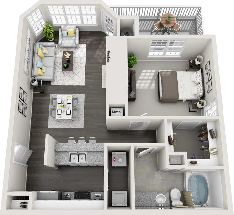 1 Bedroom 1 Bathroom Apartment for rent at Estates at New Albany in Columbus, OH
