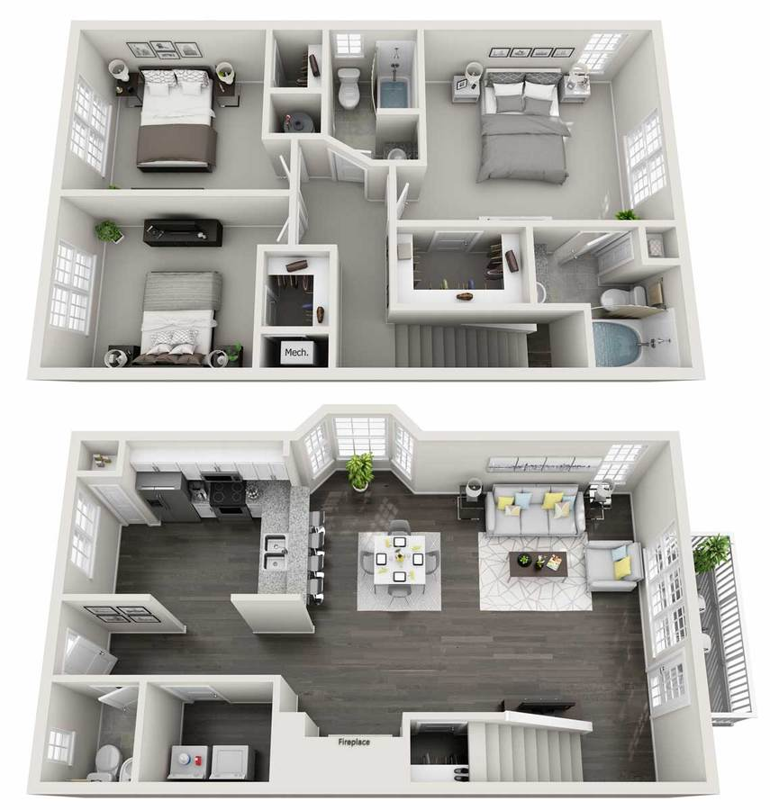 3 Bedrooms 2 Bathrooms Apartment for rent at Estates at New Albany in Columbus, OH
