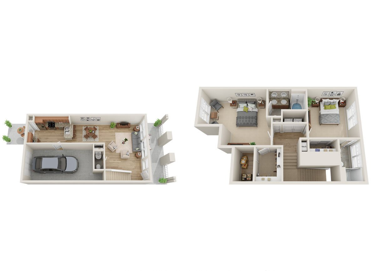 2 Bedrooms 2 Bathrooms Apartment for rent at Greenway at Mallard Creek in Charlotte, NC